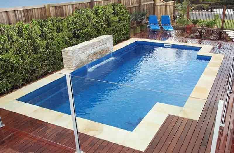 fiberglass pool 2016 elegance 27 model leisure pools inground