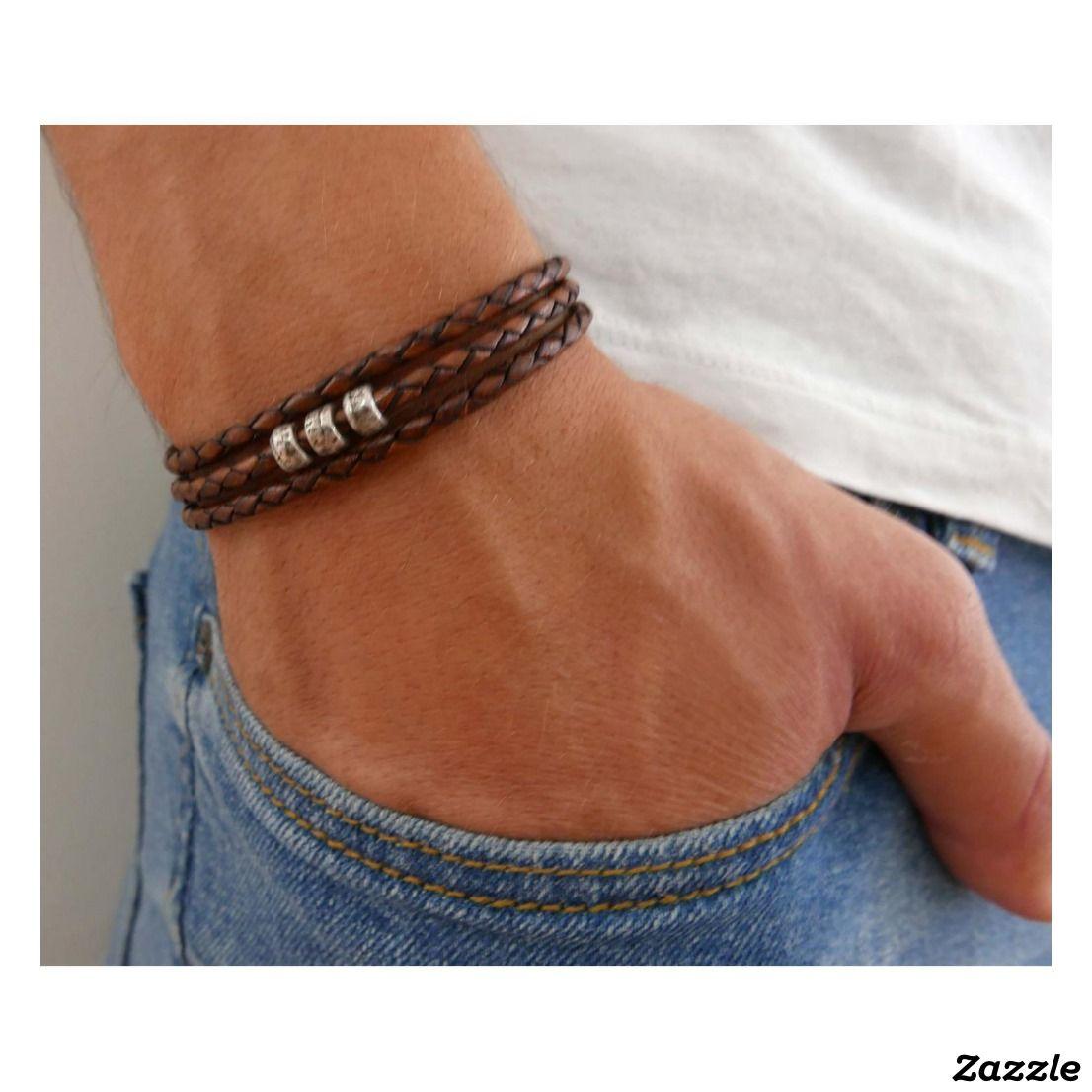 Mens Jewelry. Men/'s Bracelet Handmade Amber Stone and Leather bracelet