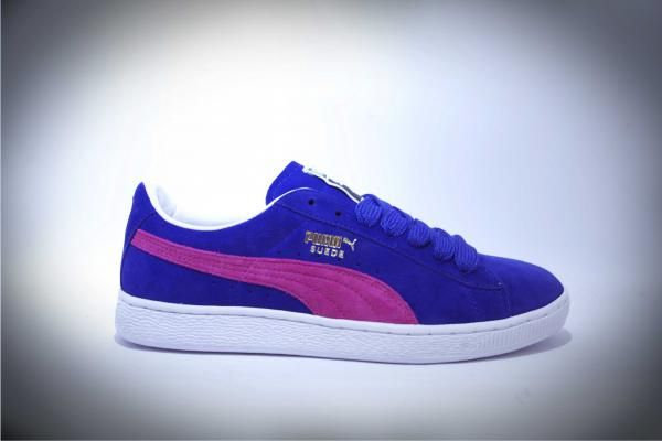 87d8c5e12a3963 Puma Suede Classic original. color  Clamatis Blue Beetroot Purple ...