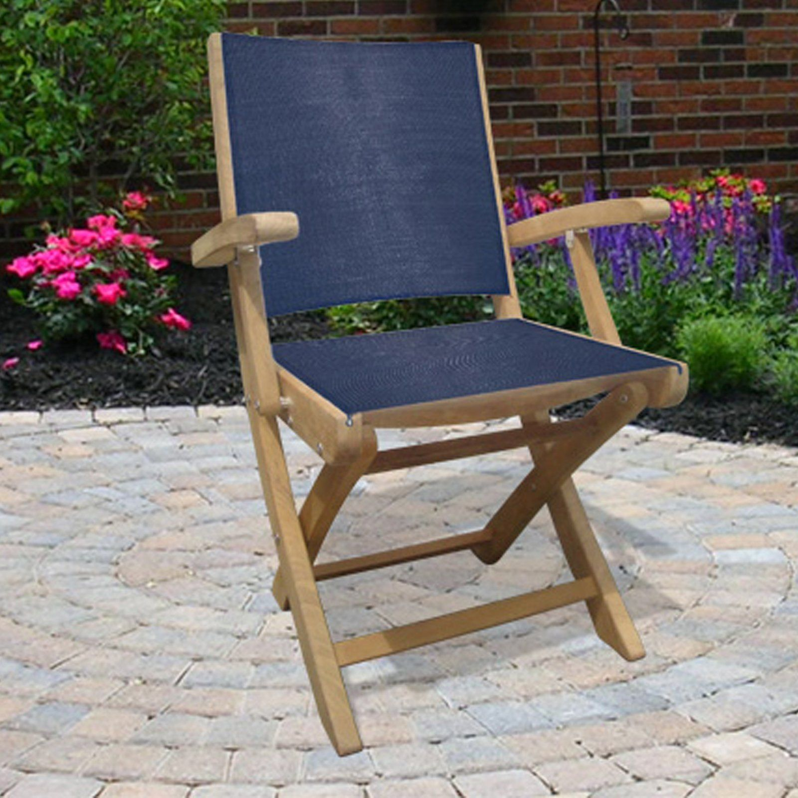 Have to have it Royal Teak Sailmate Folding Arm Chair $238 00