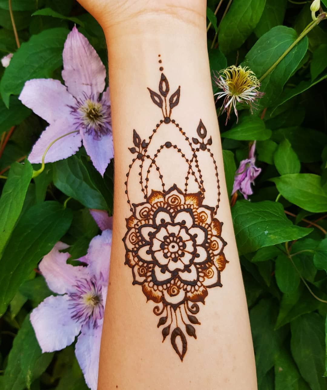 Henna Designs For Inner Arm: Little Inner Arm Mandala Style. . . . #hennatattoo