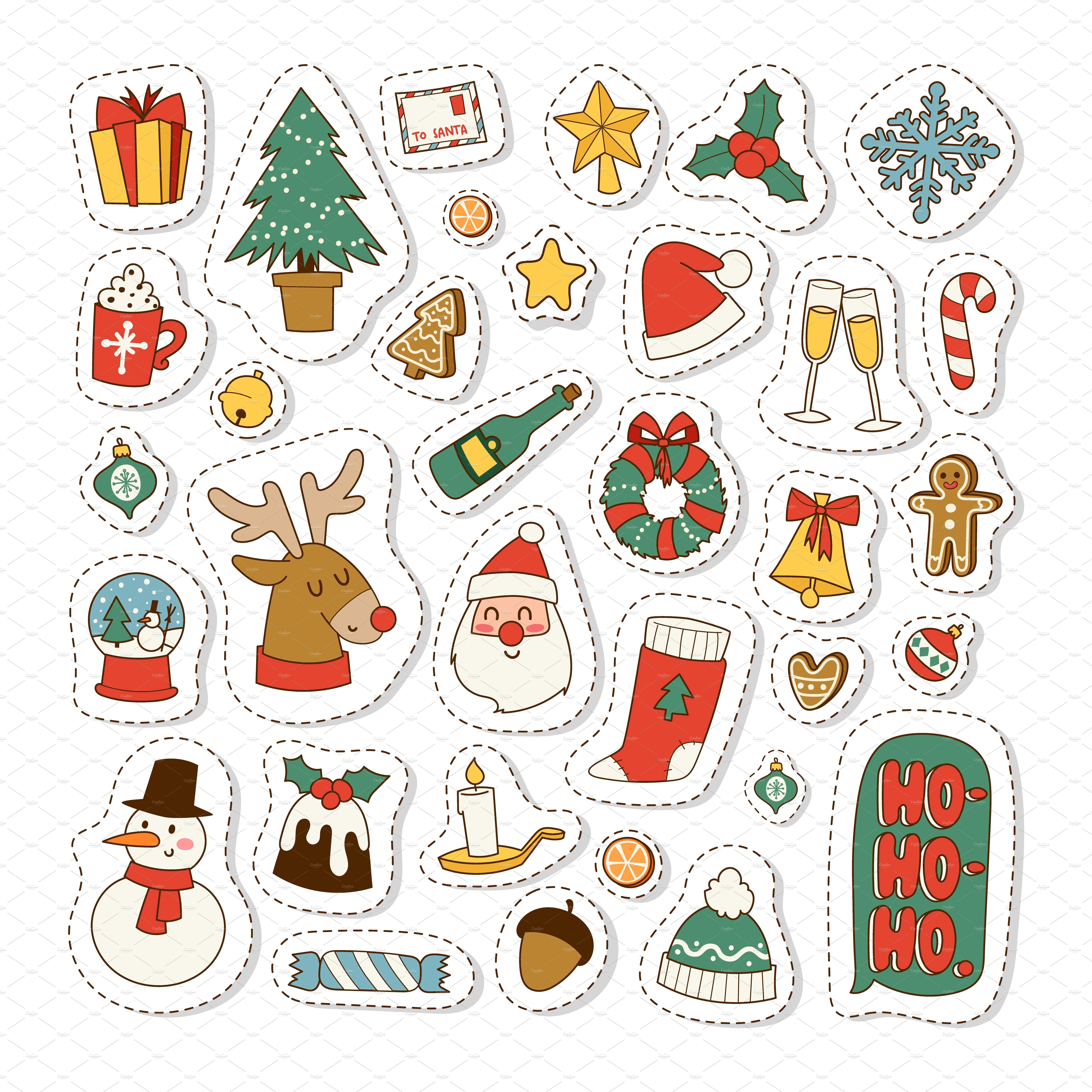 Christmas icons vector symbols vectorcardcelebration