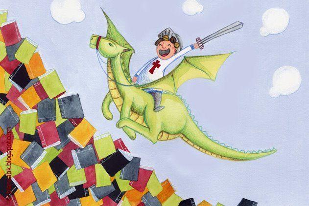 Pinzellades al món: Il·lustracions de Sant Jordi, el drac, la princesa i la rosa / Ilustraciones de San Jorge y el dragón