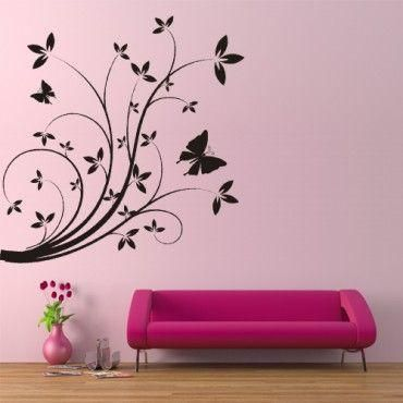 Floral Stencils For Painting | Different Kinds of Flower Wall Stencils to Give Your House Makeovers ...