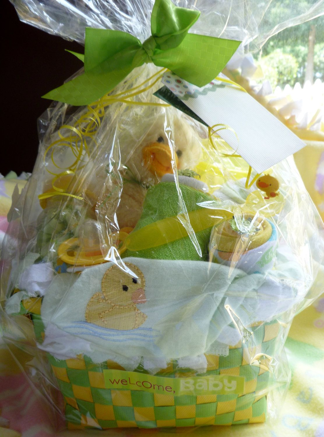 Duck themed gender neutral extra large gift basket for