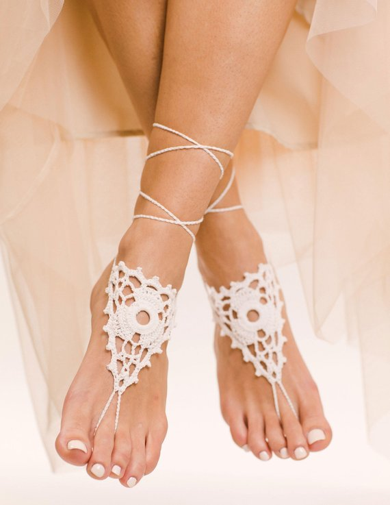 7442e2f957db Magdalena Barefoot Sandals Foot Jewelry Crochet Sandals Crochet Lace Foot  Jewelry Bridal Sandals Bea