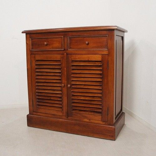 Photo of アンティーク調 マホガニー レジカウンター テーブル サイドボード 収納棚 レジ台 店舗什器