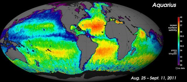 Salinity of the oceans