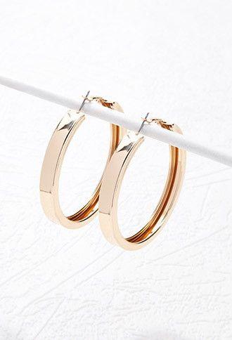 Flat Hoop Earrings Forever 21 1000156930