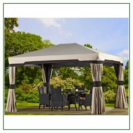 12 X 12 Gazebo Canopy Replacement Cover Green Design Gazebo Replacement Canopy Gazebo Backyard Gazebo