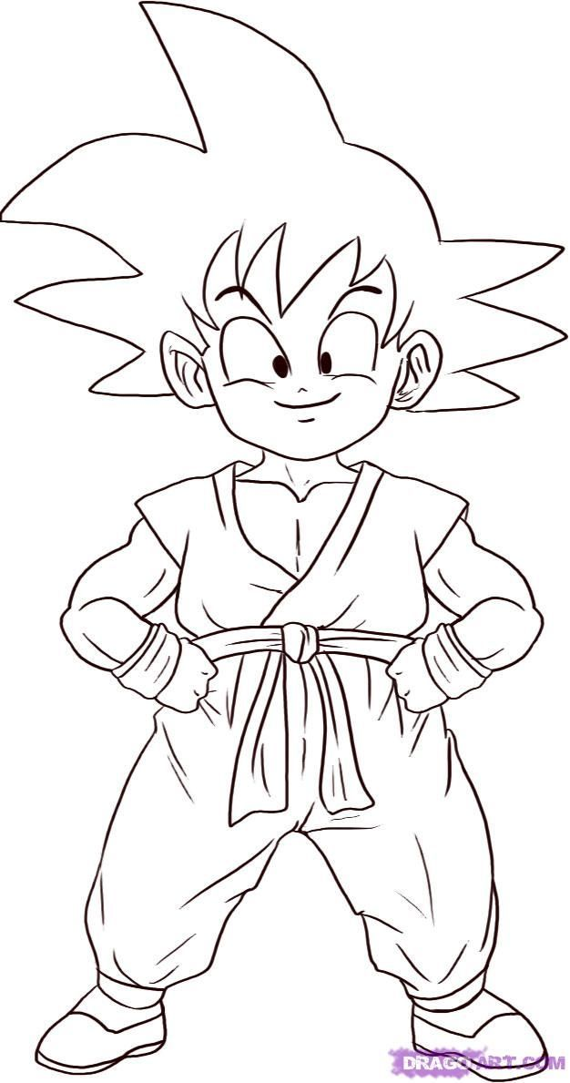 Dragon Ball Z Goku Super Saiyan 2 Coloring Page