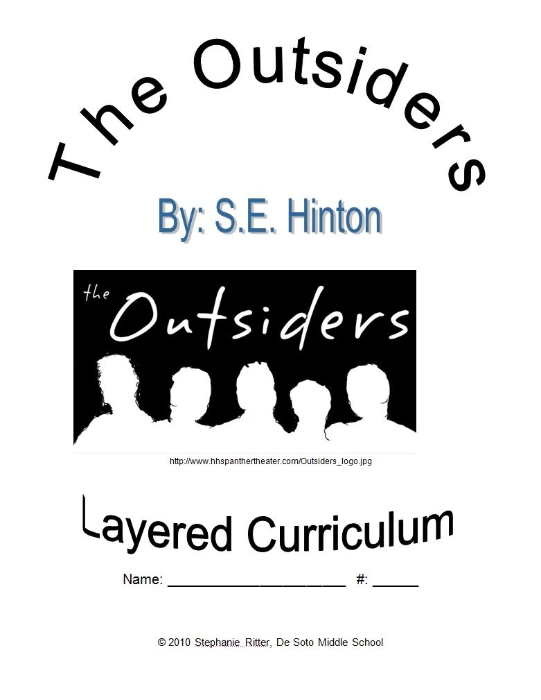 the outsiders worksheets | The Outsiders - Layered Curriculum ...