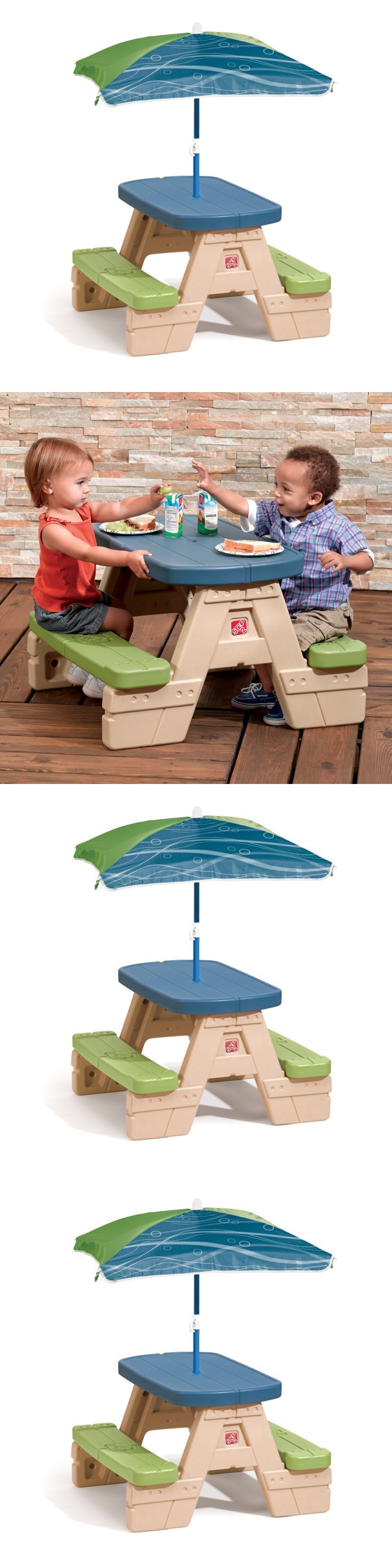 Step 2 52344 portable kids travel sit and play picnic table set w step 2 52344 portable kids travel sit and play picnic table set w umbrella foldable watchthetrailerfo