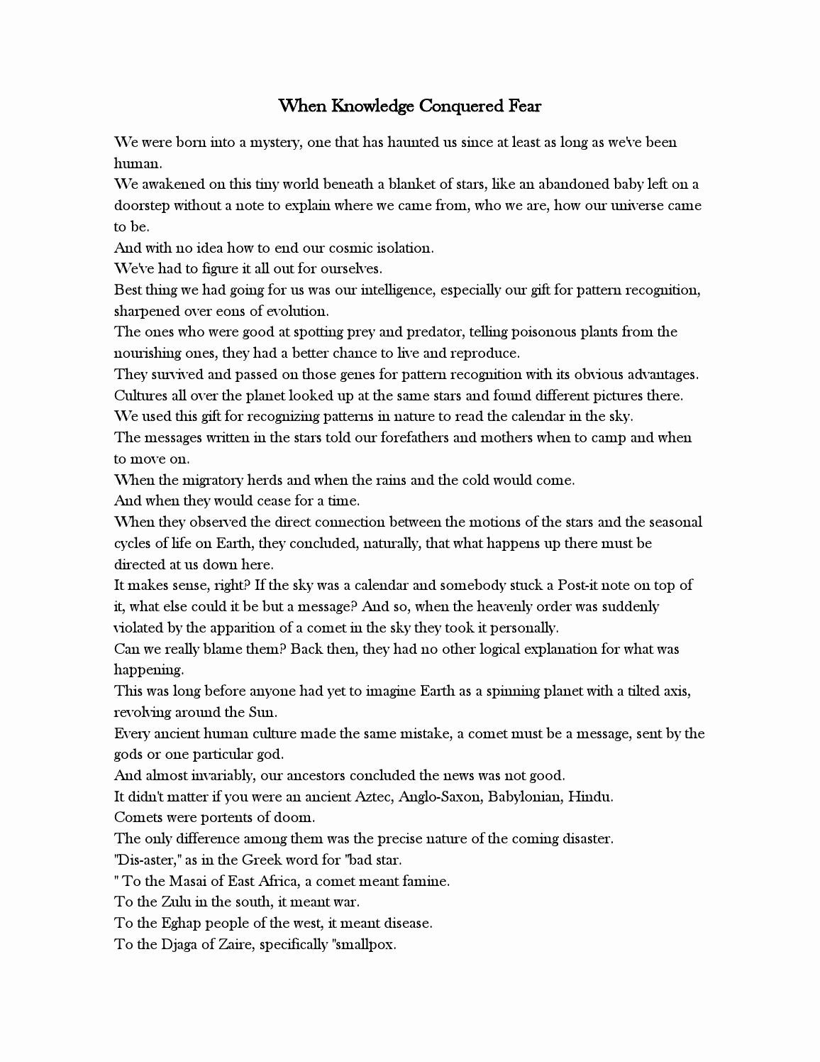 Cosmos Episode 1 Worksheet Answers New Cosmos Episode 2