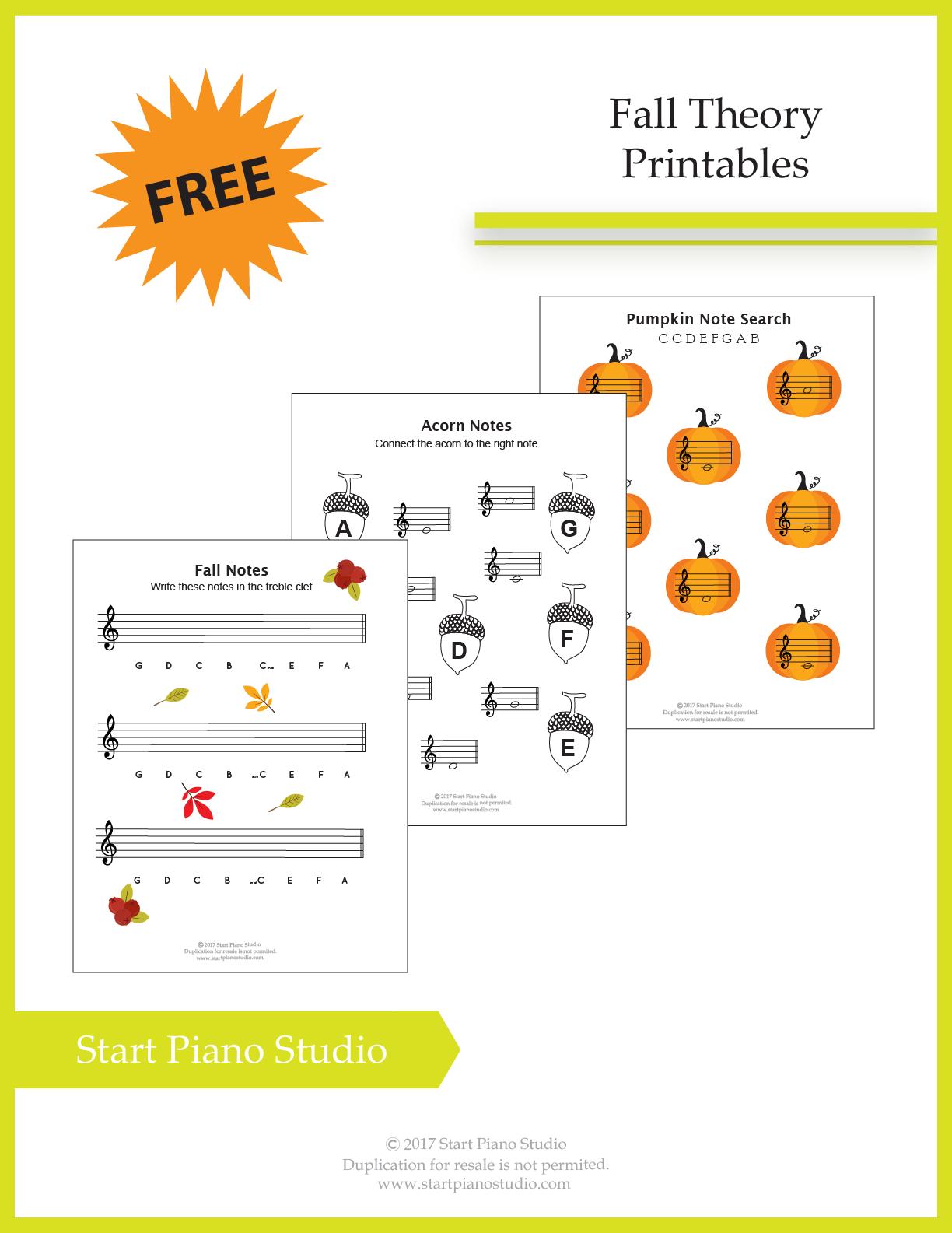 Fall Theory Printables