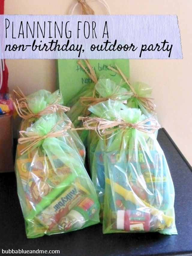 Planning For A Non Birthday Outdoor Party Bubbablue And Me Birthday Party Return Gifts Birthday Gifts For Kids Party Favors For Kids Birthday