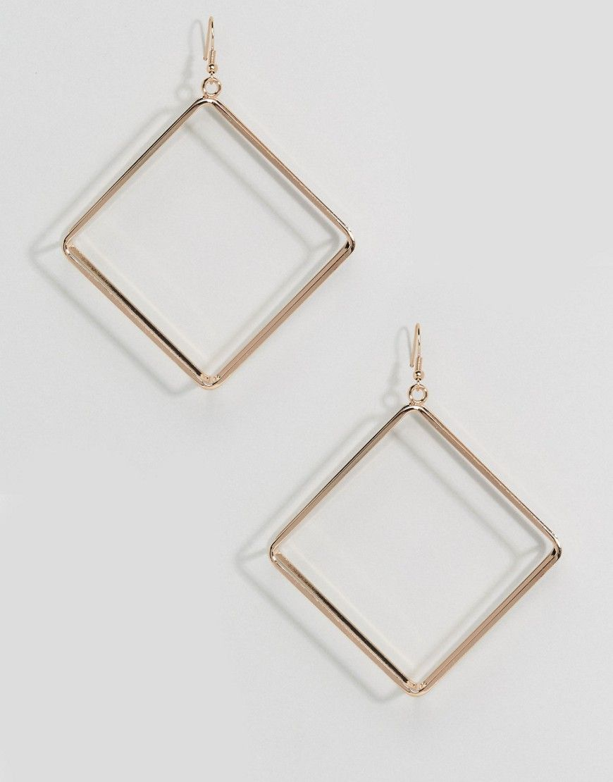 Aldo Open Square Hoop Earrings Gold Women S Frame