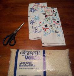 Easy Homemade Christmas Gift Ideas - Rice Bag Heating Pad - Click ...