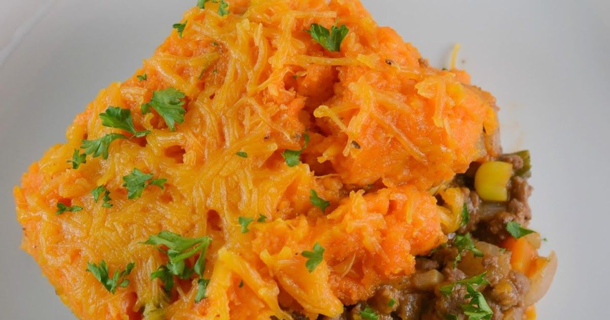 Sweet Potato Beefy Shepard's Pie Recipe #shepardspie