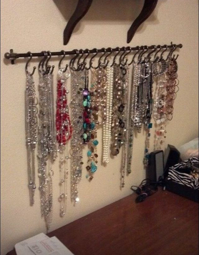 Could use for trim rack Craft Rooms Pinterest Necklace storage