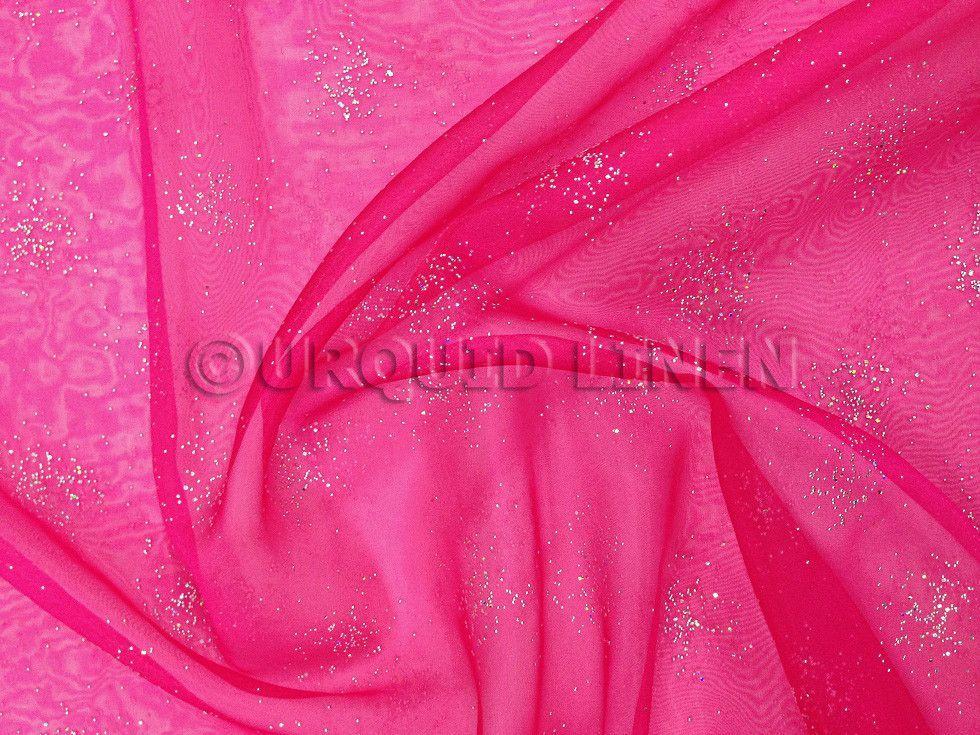 Pearl Organza Tablecloth - Fuchsia