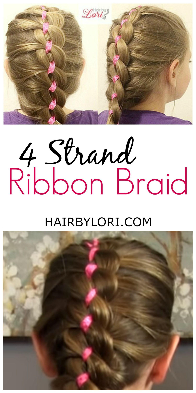 French 4 Strand Ribbon Braid