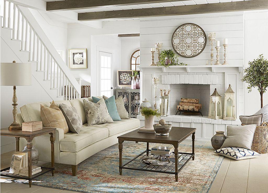 Gianna Conversation Sofa Find The Perfect Style Havertys Farm House Living Room Farmhouse Living Room Furniture Living Room Decor Country
