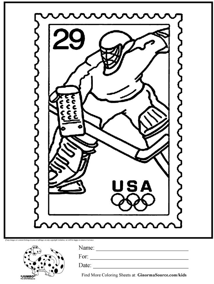 Hockey Coloring Pages For Kids 5631 Pics to Color coloring 2