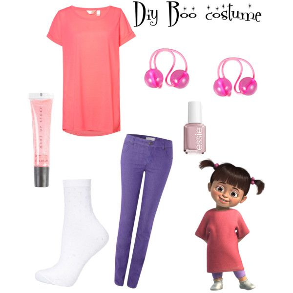 Diy Boo From Monsters Inc Costume By Its Zoe Vi On Polyvore Featuring Accessori Halloween Costume Monster Monsters Inc Halloween Costumes Boo Halloween Costume