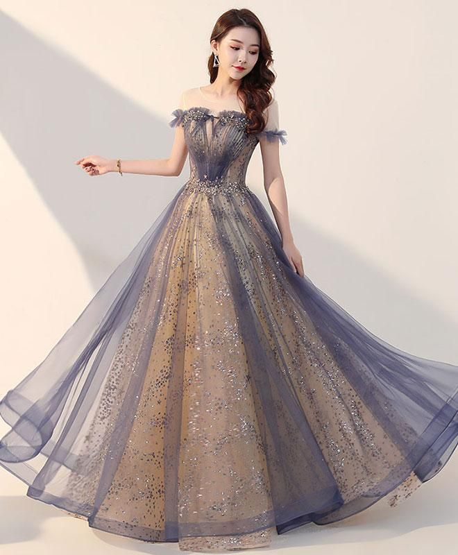 Elegant Tulle Long Prom Dress, Tulle Formal Dress For Teens - Dresses formal elegant, Designer formal dresses, Formal dresses for teens, Dresses for teens, Pretty prom dresses, Prom dresses gowns - 4  Shoulder to Floor(inch)60 Delivery times Processing time  510 working days Shipping time    714 working days Custom size    516 working days