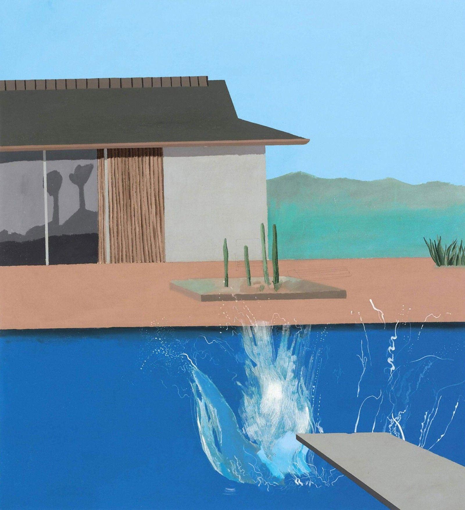 David Hockney – The Splash, 1966, acrylic on canvas, 183 x 183 cm (72 x 72  in.) | David hockney paintings, David hockney, David hockney artwork