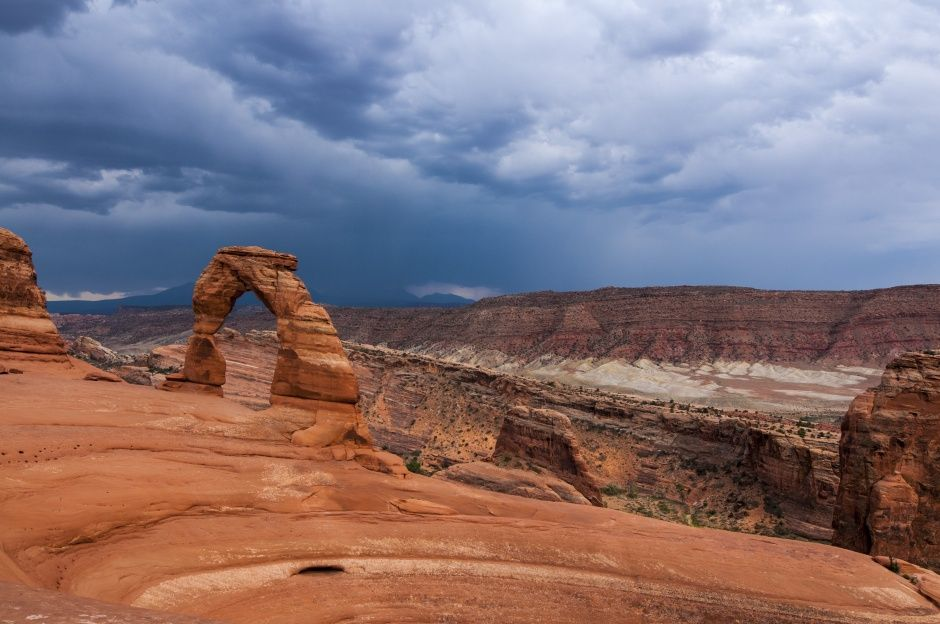 Storm Approaching Delicate Arch | Arches National Park, UT