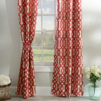 Red Gatehill Curtain Panel Set 95 In Red Curtains Living Room