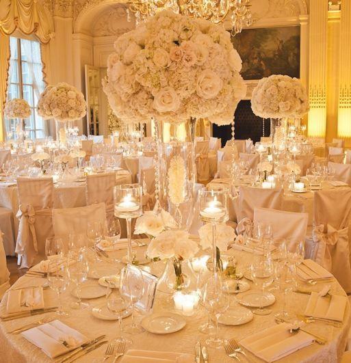 Romantic Wedding Centerpieces: Romantic Vintage Reception Wedding Flowers, Wedding Decor