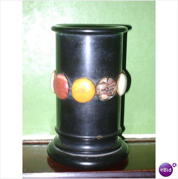 c1885 HARDSTONE SAMPLE VASE #2 - ASHFORD? PIETRA DURA Listing in the Other,Decorative,Antiques Category on eBid United Kingdom