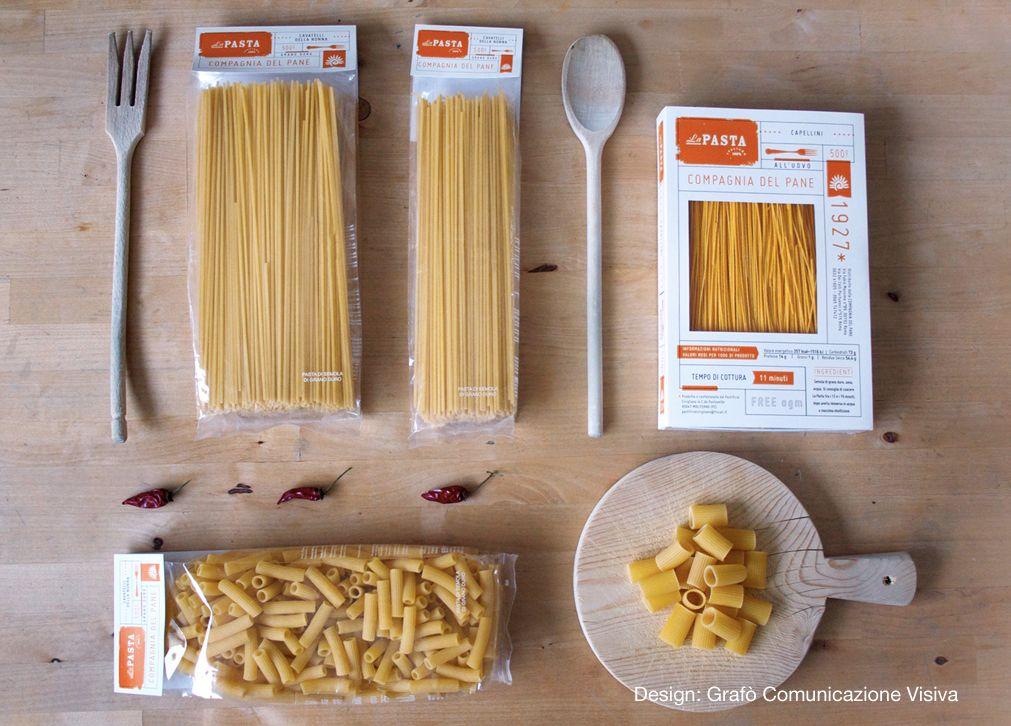 """Featured on The Die Line on 6-04-2013 http://www.thedieline.com/blog/2013/6/4/la-pasta.htmlIdentità, Packaging e Labelling per """"1929 * COMPAGNIA DEL PANE"""".  Linea di prodotti alimentari artigianali italiani."""