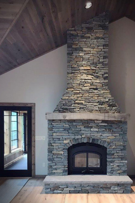 Barnwood Blue Ledgestone Stacked Stone Fireplaces Stone Veneer
