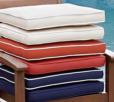 Cobalt Blue Sunbrella Outdoor Dining Chair Cushion Solid Potterybarn Outdoor Dining Chair Cushions Dining Chair Cushions Sunbrella Outdoor Furniture