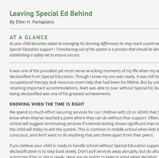 Leaving Special Ed Behind >> Leaving Special Ed Behind Smart Kids 6 Points To Keep In Mind
