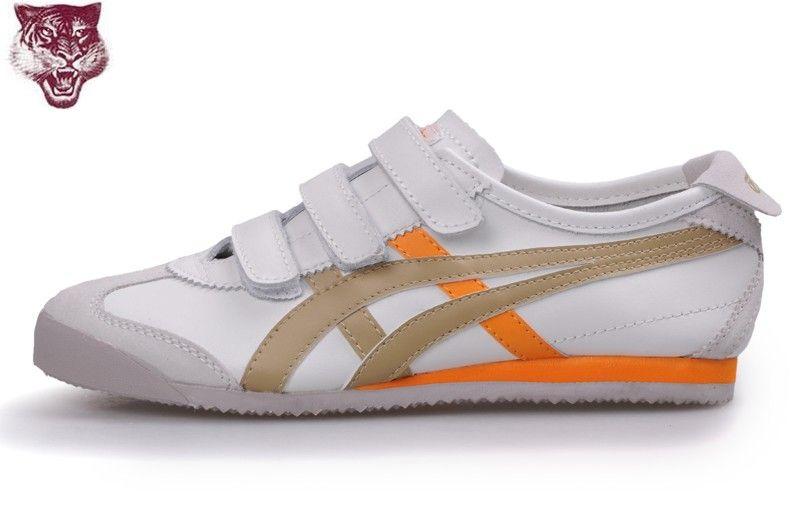 newest 47565 08778 Onitsuka Tiger by Asics MexicoBaja Shoes (White  Brown  Orange)   onitsukatiger