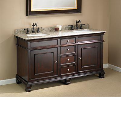 Costco Mission Hills Manhattan Collection 60 Double Sink Vanity Double Sink Vanity Dark Wood Cabinets Vanity