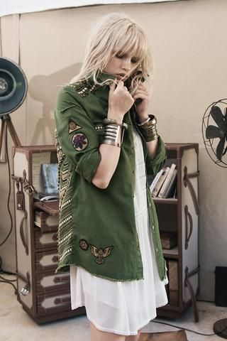 1301513cbf1 Spell and the Gypsy Collective Panther Embellished Army Jacket ...
