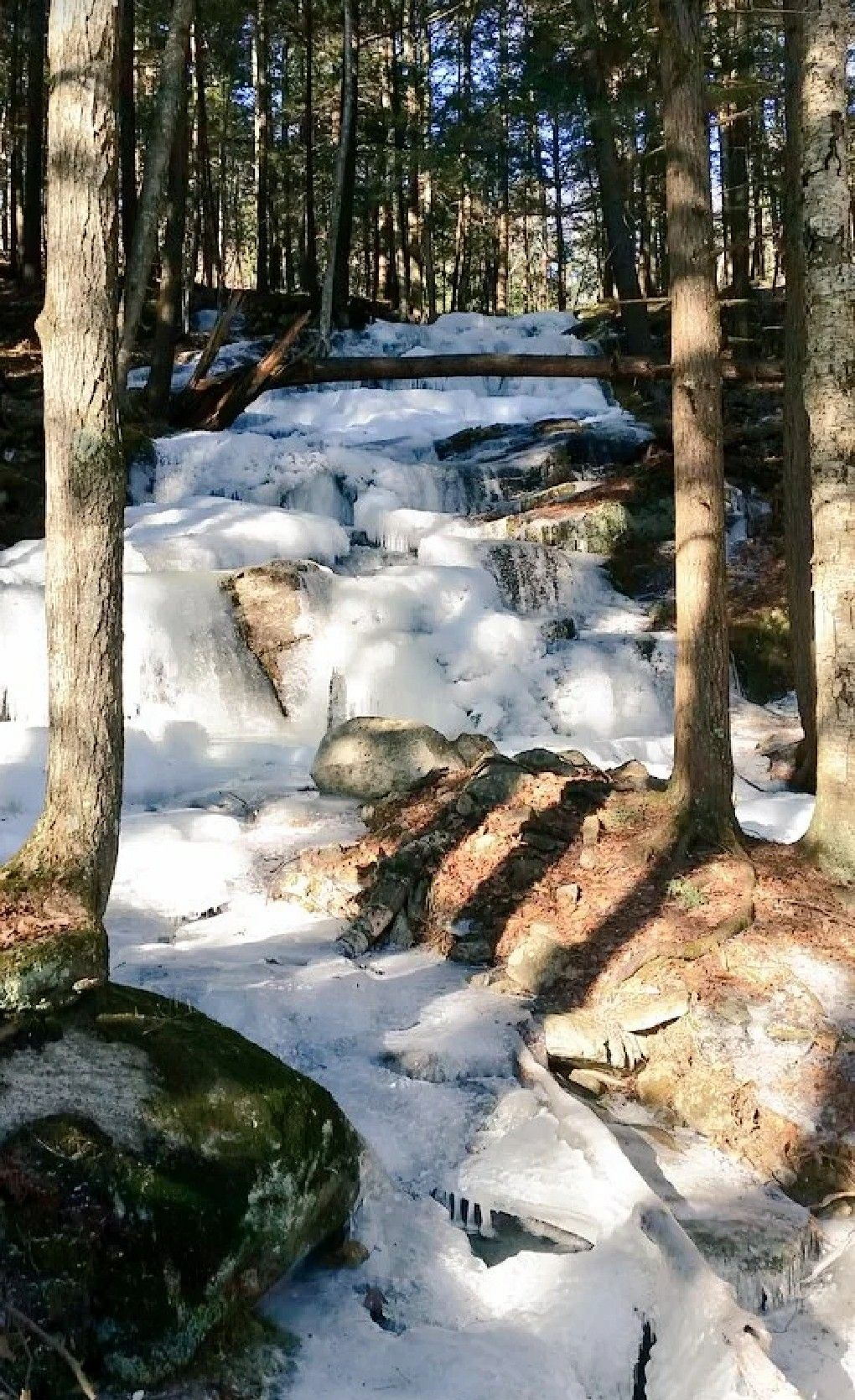 Roaring Brook Falls from Afar in the Adirondack Mountains
