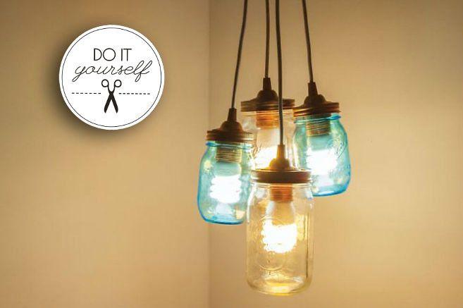 Diy Tuesday Lampe Aus Einmachglasern Lampe Beton Lampe Einmachen