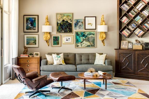 Hgtv Living Room Designs Glamorous Midcentury Modern Living & Dining Space  Living Room