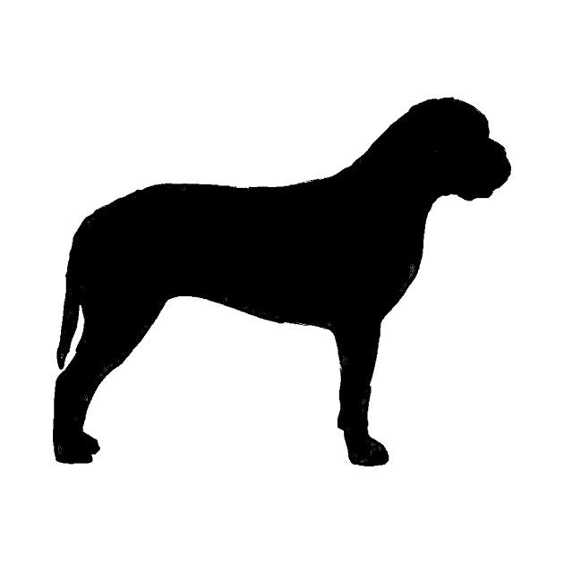 Check Out This Awesome Bullmastiff Silhouette Design On