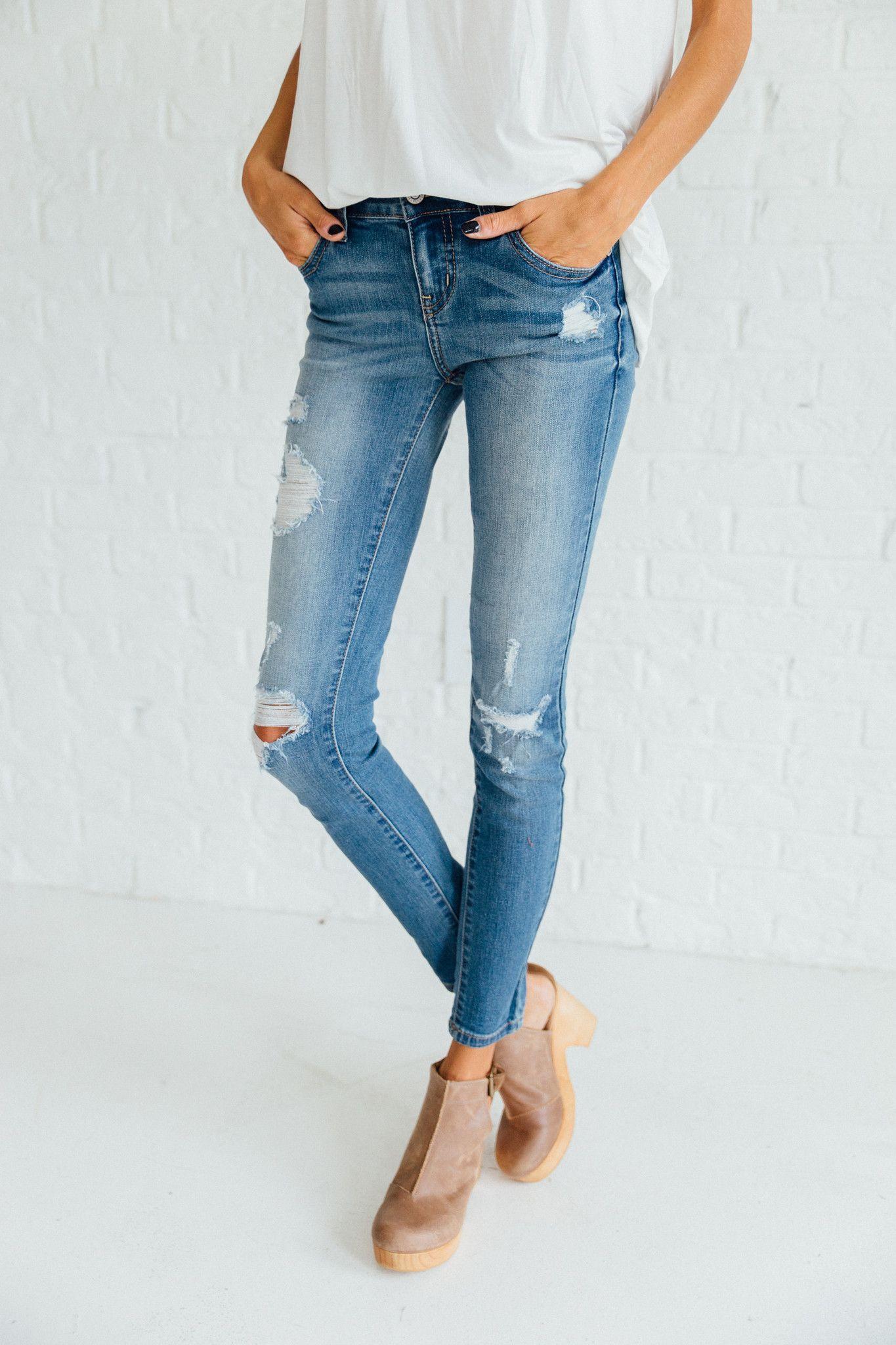 jeans clad