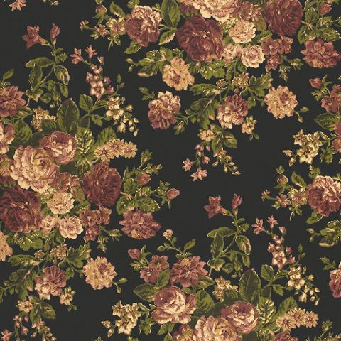 New Featherbed Floral Vintage Black Rl Number Lcw40581w Width 27 Horizontal Repeat 13 1 2 Floral Wallpaper Vintage Floral Wallpapers Classic Wallpaper Black and cream floral wallpaper