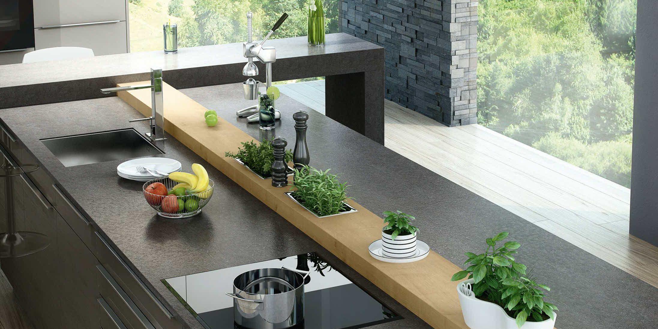 Dura quarz, kombiniert mit wildeiche | Küchen Inspiration ...