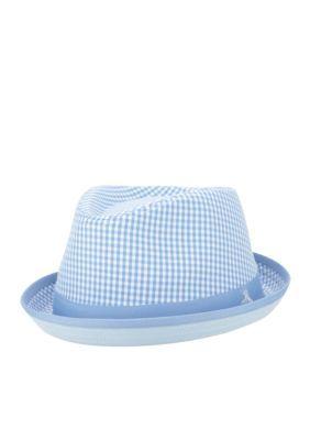 7a4817020a4 Original Penguin Methyl Blue Miramar Gingham Fedora Hat